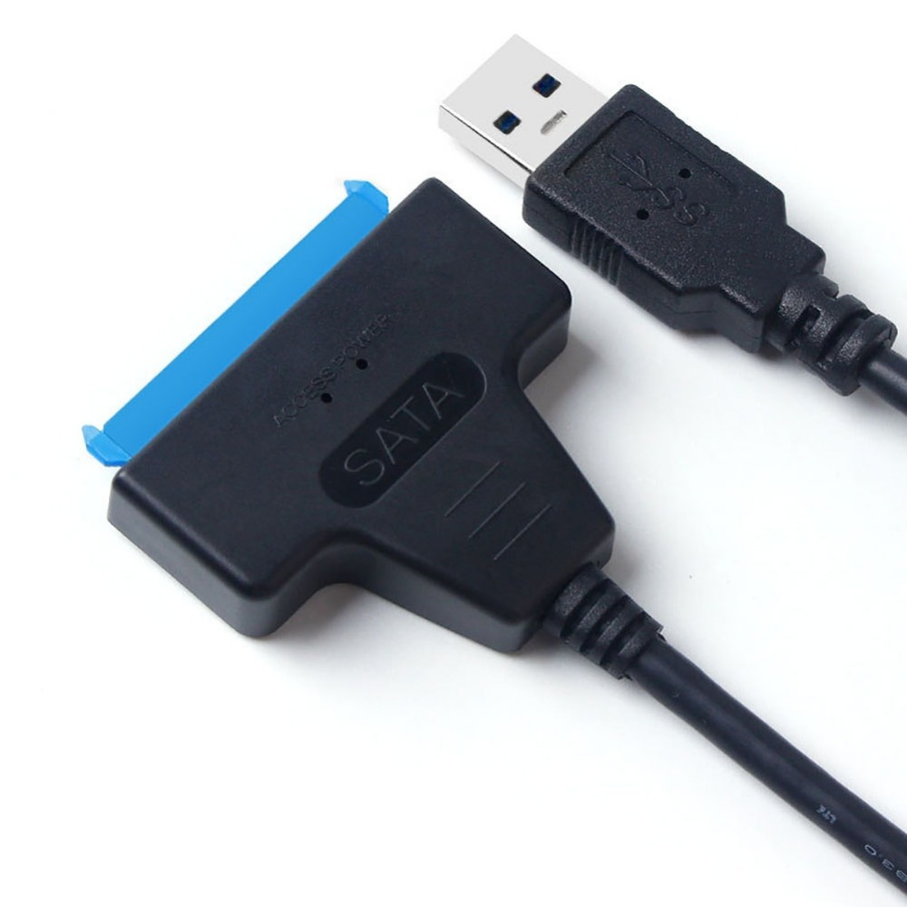 """22-Pin SATA To USB 3.0 Cable 2.5 Inch Hard Drive Adapter Converter For 2.5"""" Laptop HDD SSD sats Cable Adapter 20cm Length Hot"""