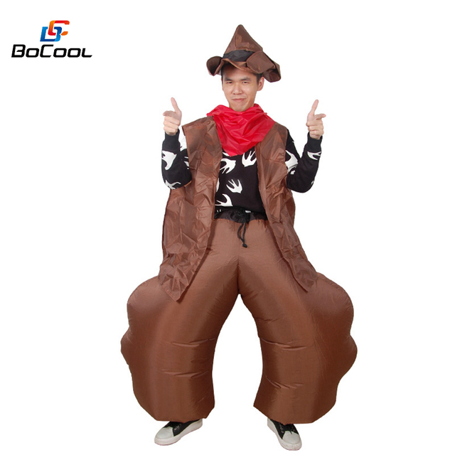 Halloween Cowboy Inflatable Costume For Adult Men And Women Cowgirl Ole Cow Cosplay Funny Dress Blow Up Suit Birthday Gifts