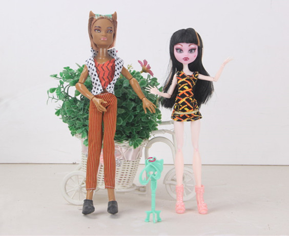 Free shipping 2pcs 1set monster font b toys b font doll christmas gift Wholesale girls gifts