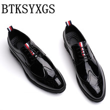 BTKSYXGS 2017 Hombres zapatos Hombre pisos de cuero de Moda de Los Hombres Respirables Cómodos zapatos casuales zapatos de Hombre de Alta calidad TAMAÑO 37-46 Color 7