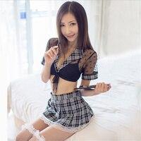 Sexy Lingerie Cosplay Student Uniform Sexy Underwear Women Erotic Costumes Lingerie Hot Role Play Temptation Uniform