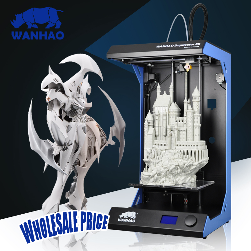 Duplicator 5 Wanhao Large Format Industrial 3D Printing Machine Big Size Prototype 3D Printer все цены