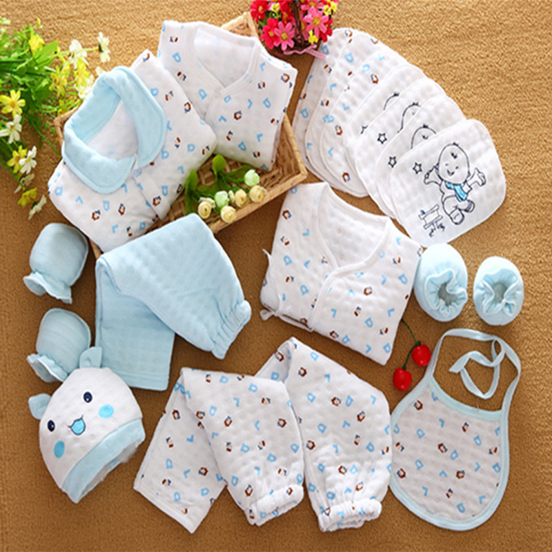 Autumn cute infant 100% cotton warm clothing newborn gift baby boy girl cartoon soft underwear newborn clothes 19pcs/set 17N1120 2016 new warm cotton baby hat girl boy toddler infant kids caps soft cute hats cap beanie baby beanies accessories d1