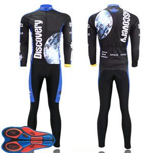 men cycling clothing DISCOVERY long sleeve cycling jersey sets 9d gel pad b7443a32d