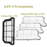 Original ILIFE V7S Primary Filter 1 Pc And Efficient HEPA Filter 3 Pcs Of Robot Vacuum