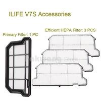 Original ILIFE V7S Primary Filter 1 Pc And Efficient HEPA Filter 3 Pcs Of Robot Vacuum