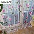 Новое распродажа цветочные тюль в занавески для гостиной спальня кухня шторы лечения жалюзи панель