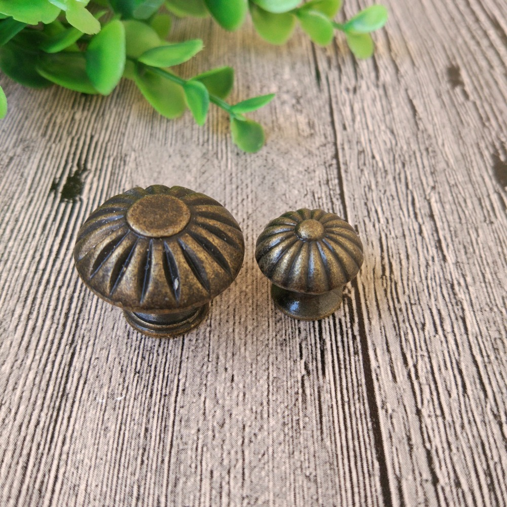 10Pcs Shabby Chic Cup Shell Cupboard Drawer Cabinet Pull Handle Golden