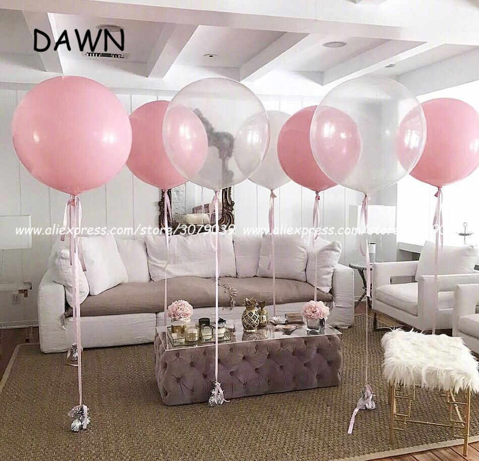 1pc 36 Inch 90cm Giant Clear Balloon Latex Balloons Wedding Decoration Inflatable Helium Air Balls Happy Birthday Party Ballon