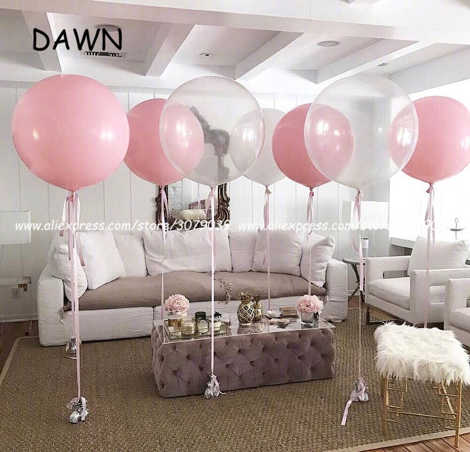 1pc 36 Inch 90cm Giant Clear Balloon Latex Balloons Wedding Decoration Inflatable Helium Air Balls Happy Birthday Party <font><b>Ballon</b></font> image