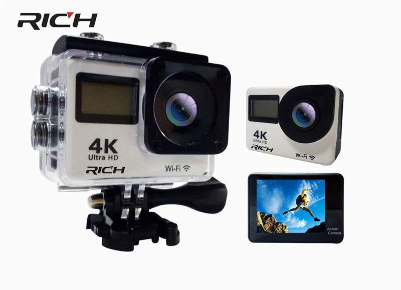 RICH Sports Camera Allwinner V3 IMX179 Action Camera WiFi 1080P 60fps 2.0 LCD touch 170D Full HD 30M Waterproof Video DV dhl 5pcs rich t350 ultra fhd 4k action camera wifi 1080p 60fps 2 0 lcd 170d full hd 30m waterproof video action dv sports camera