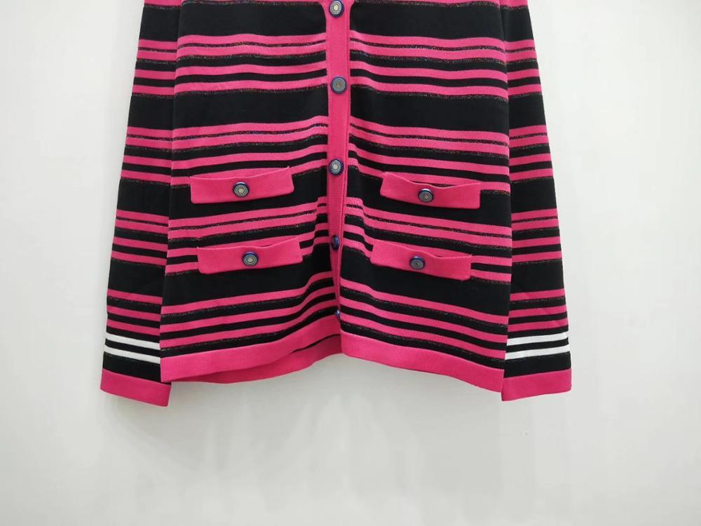 2019 Otoño Invierno WALLA ERA mujer suéteres CASUAL rayas señoras suéteres color negro y Rosa mujer suéter 2 colores-in Caquetas de punto from Ropa de mujer    3