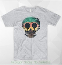 Skull Nature T Shirt Wild Animals Africa Safari Mountain Rasta Love Peace Boho Short Sleeve Tops(China)