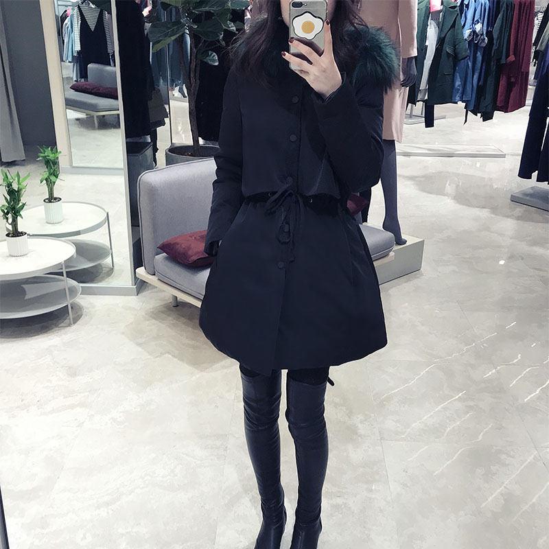 2018 ฤดูใบไม้ร่วงฤดูหนาวเกาหลีผู้หญิงหญิงสีดำ bf Harajuku หลวม Plus Cotton college Windbreaker แจ็คเก็ต Hooded Parkas X199-ใน เสื้อกันลม จาก เสื้อผ้าสตรี บน   3
