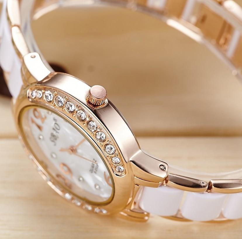 SBAO merk luxe damesmode quartz horloge imitatie keramische armband - Dameshorloges - Foto 2