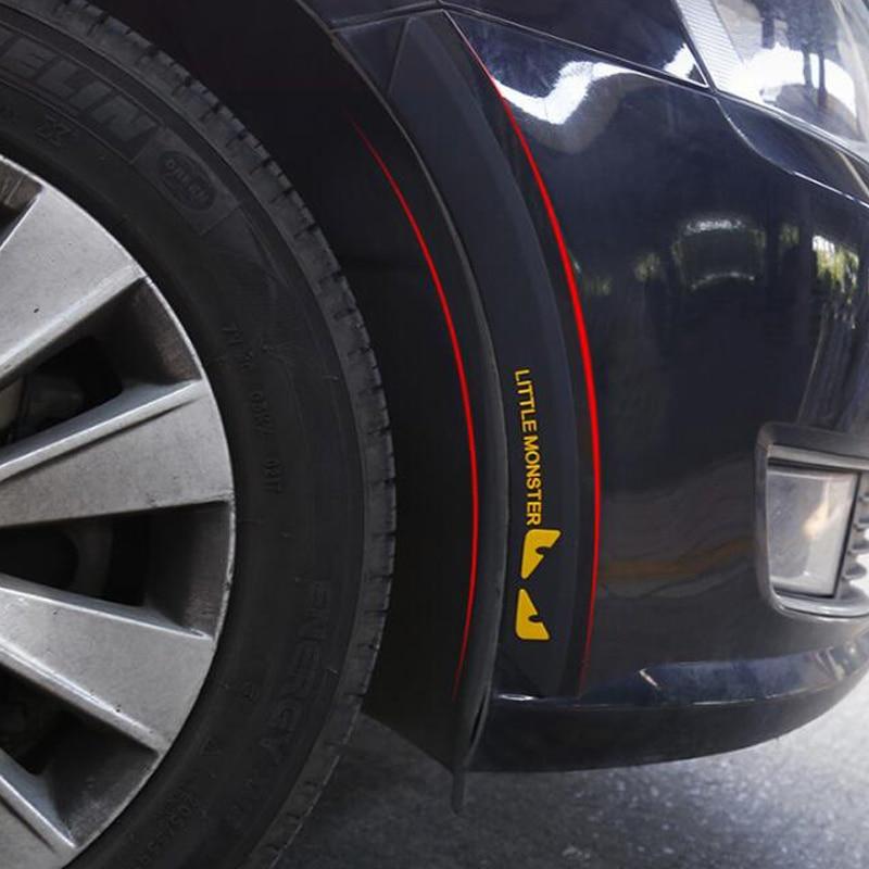 Protetor de pára-choques estilo do carro anti colisão fender flares borda guarda borracha proteção pára-choques adesivo molduras tira decorativa