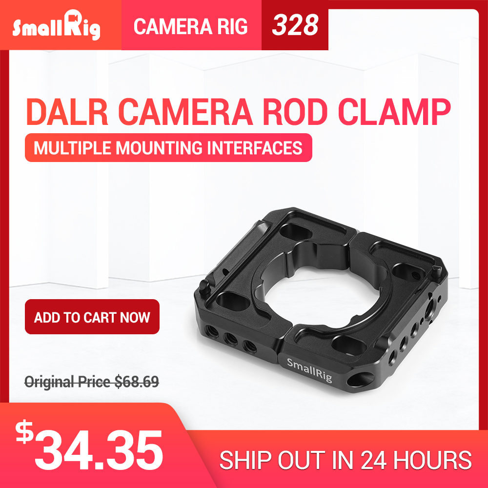 SmallRig Camera Plate Mounting Clamp for DJI Ronin S Gimbal with 1/4 3/8 Thread Holes for Monitor Microphone Attach 2221