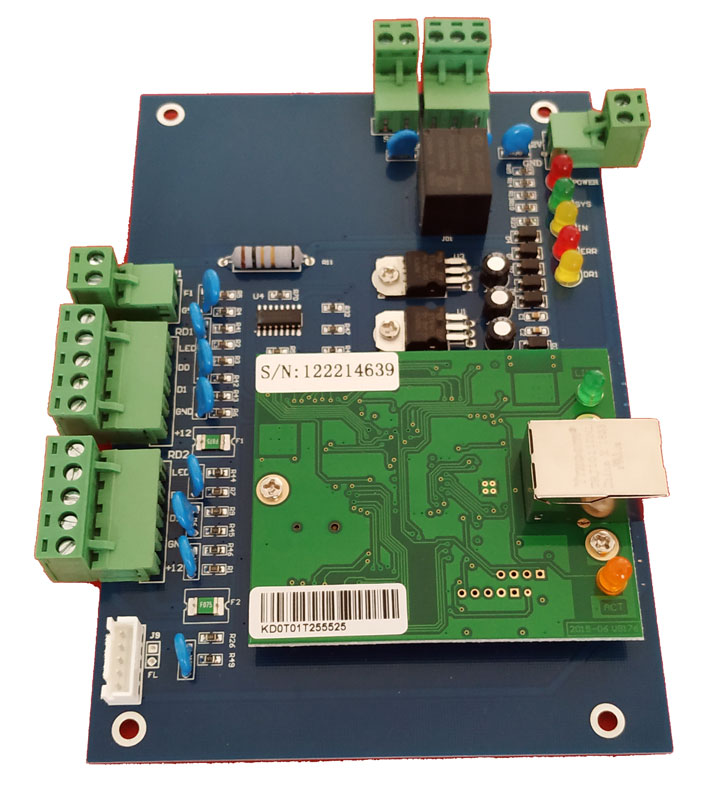 TCP IP Singer Door access control one Door Wiegand Tcp ip Access Control Board support QR