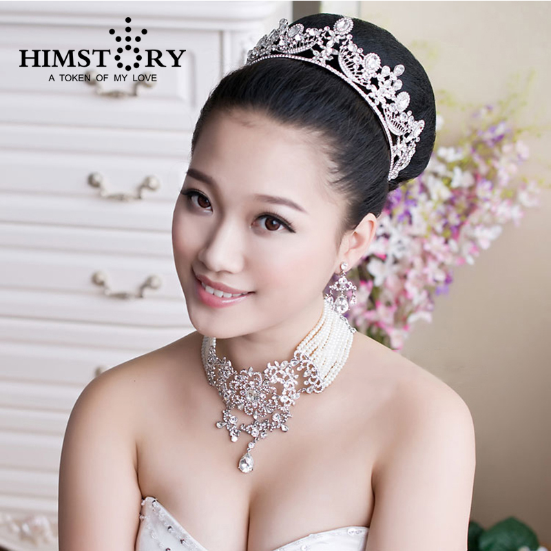 Wedding Hairstyle Crown: European Style Royal Princess Large Rhinestones Crystal