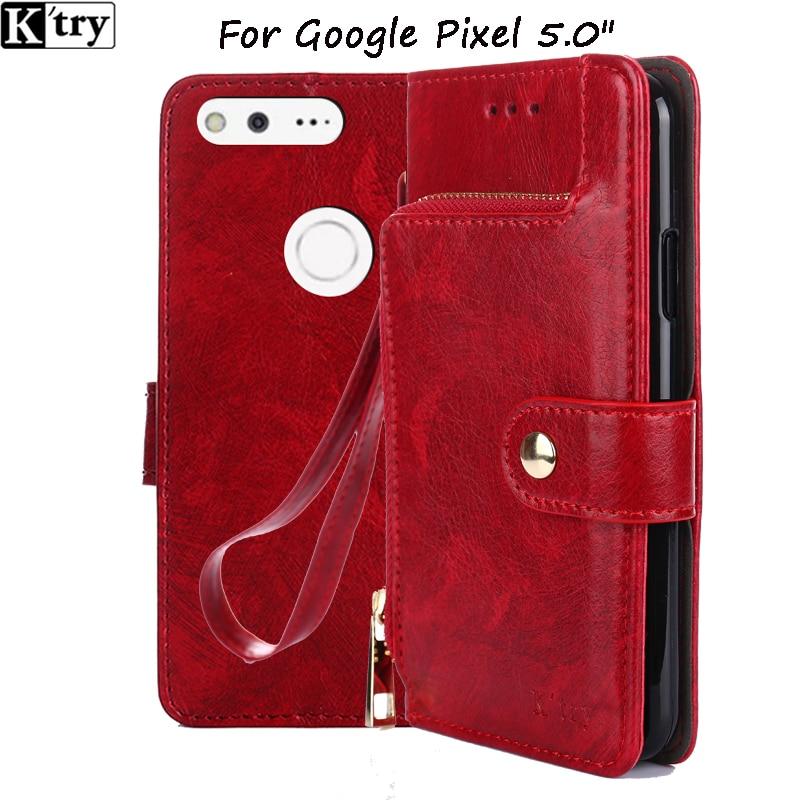 Luxury PU Leather Case For Google Pixel Case Flip 5.0 Inch