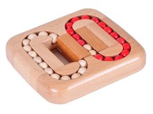 IQ Test Wooden Beads Puzzle Brain Teaser Beech Wood Game Toys for Adults Children