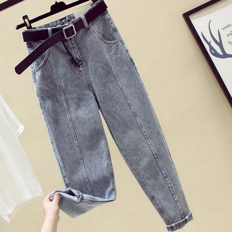 High Waist Boyfriend Loose Slim Jeans Daddy Pants Straight Casual Harem Pants Daddy Jeans 2020 Female Streetwear Women Wear