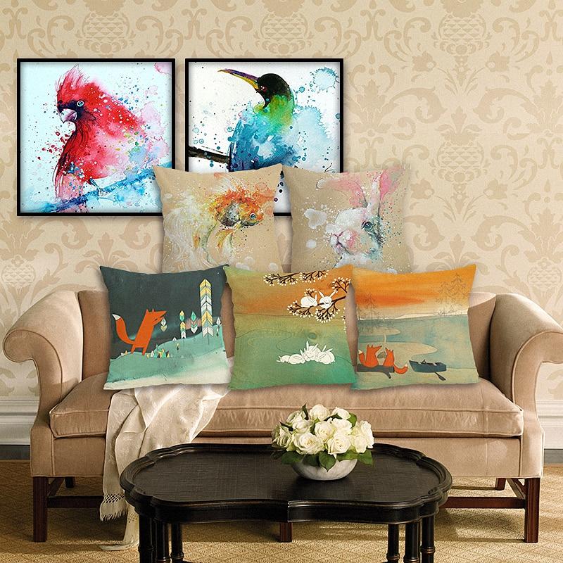 Poslikano blazino okrasno okrasno srčkan posteljnina blazina kavč vrgel blazino avto stol domači dekor vzglavnik primer almofadas