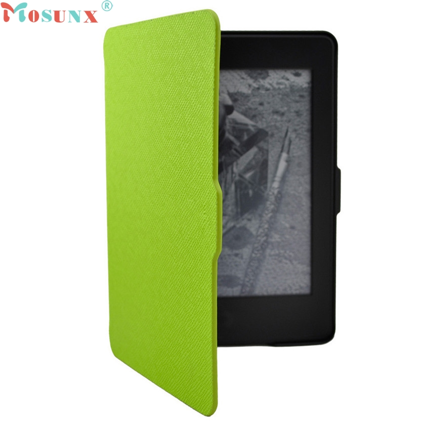 Mosunx Simplestone Magnetic Auto Sleep PU Leather Cover Case For  2016 Kindle Paperwhite (7th Generation) 6 inch +Free Gift Dec7 magnetic case for new kindle 8th generation 2016 6 inch ebook smart sleep pu leather amazon cover ultra slim thin film pen