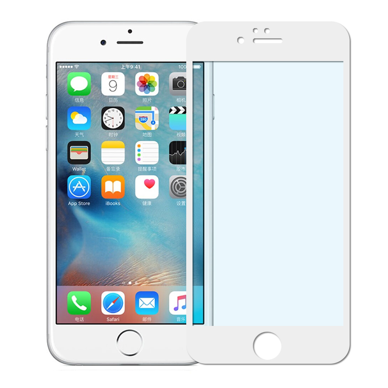 Anti-Peeping Privacy Silk 3D Full Cover Tempered Glass Film For iPhone 6 6S Plus ,6 6S Plus Anti Blue-ray Screen Protector