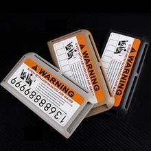 Car Storage Supplies Stickers Sun Visor Organizer Card Holder Slot Plate Holder Warning Decoration Parking Card Car-styling