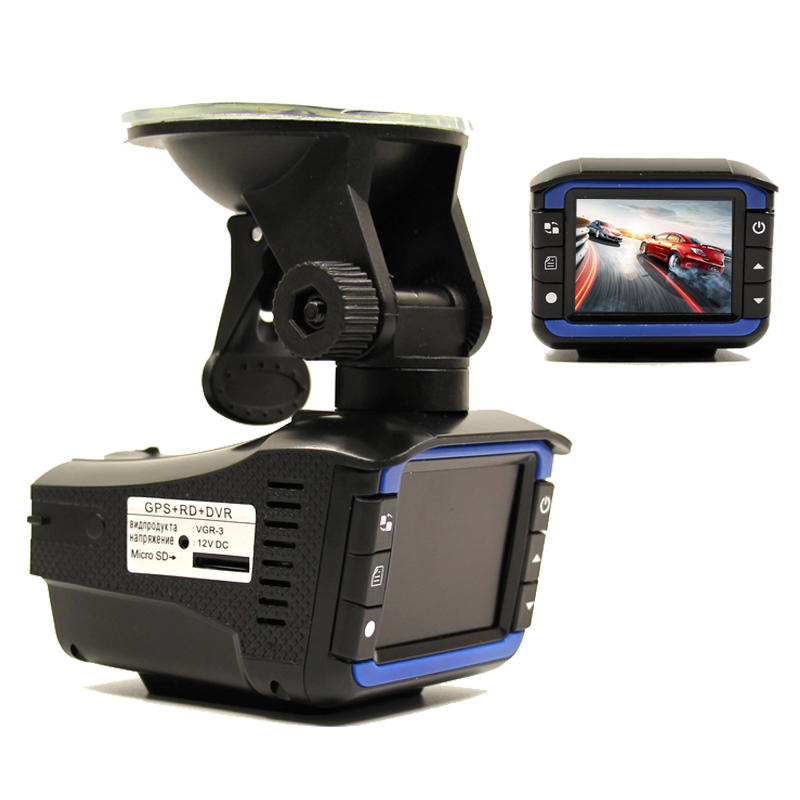 (Russian Voice) 3 In 1 Multi-Function Car DVR Camera Radar Detector 2.0 LCD 140 Degree HD 1280*720 Built-in GPS Logger Dash Cam