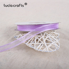Lucia crafts 10mm Organza Ribbon Handmade DIY Hair Bow Accessories 1/5/25y/roll U0301