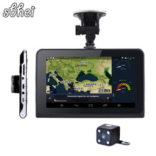sbhei 7 inch Android 4.4 Car GPS Navigation FHD 1080P Car DVR Camera Recorder WiFi Russia Europe map Vehicle gps