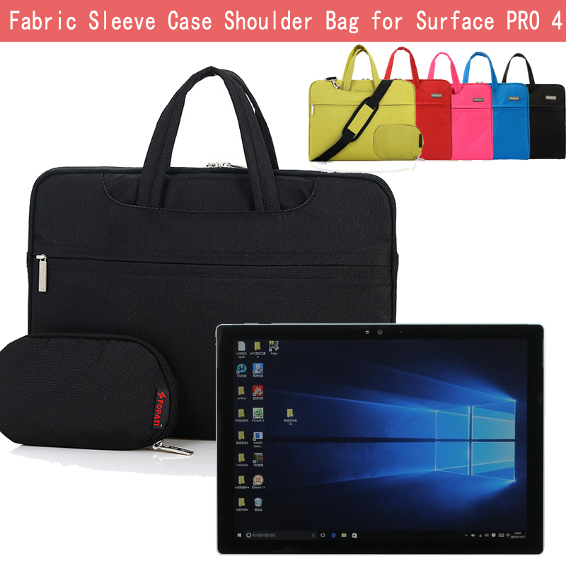 """For Microsoft Surface Pro 4/3 12.3"""" Tablet Case Shoulder Bag Sleeve Carrying Messenger Bag w/ Handle & Strap+ Accessories Pouch"""