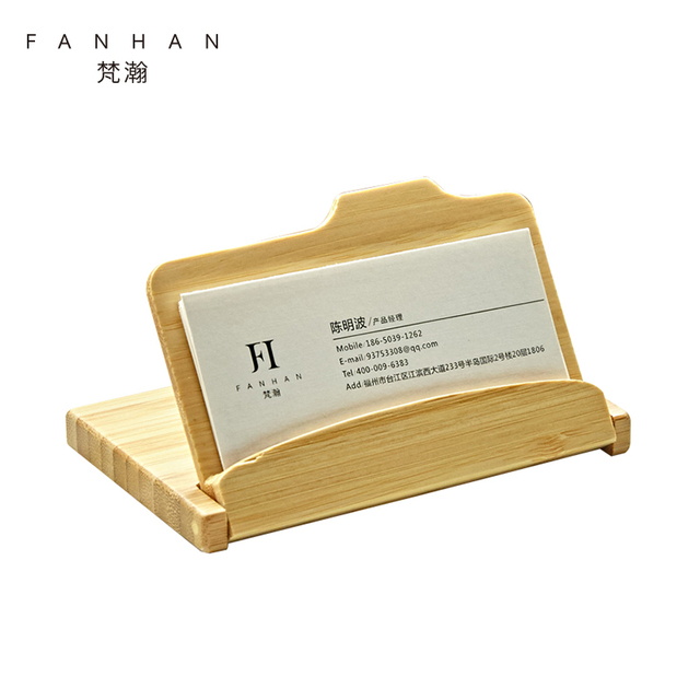Fanhan luxury desktop wooden business card holder fashion name card fanhan luxury desktop wooden business card holder fashion name card stand bank card case office desk colourmoves