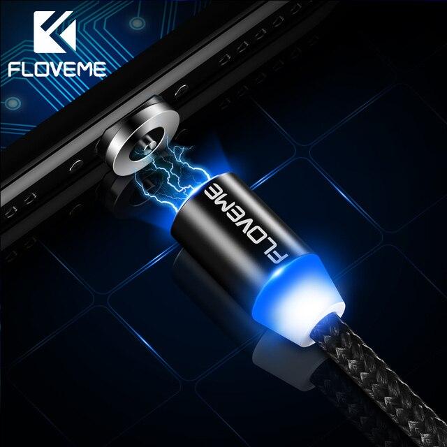 FLOVEME магнитная зарядка Магнитный кабель для iPhone X samsung освещения зарядки Нейлон Плетеный Micro Тип usb C магнитное зарядное устройство кабель магнитная зарядка зарядка для айфона шнур для зарядки телефона
