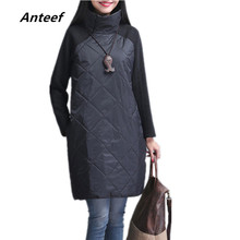 new fashion Padded cotton plus size women casual loose autum