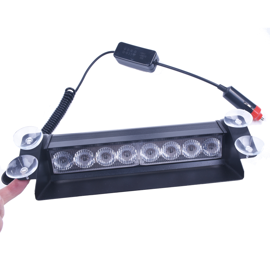 8 LED Car Police Strobe Flash Light Dash Emergency Warning 3 Flashing Fog Lights Red/Blue Yellow Blue 3 Style s2 shovels ray bead 96w led flashing police strobe intimidator windshield dash light