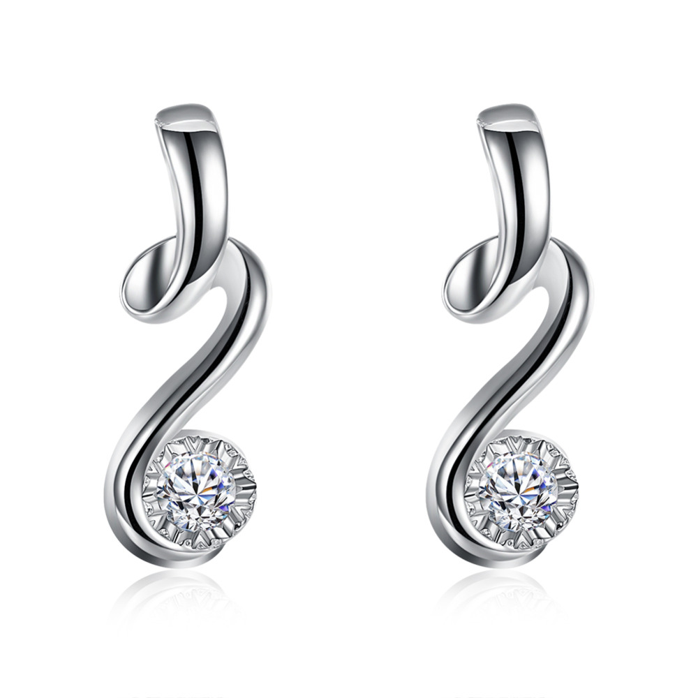 New Fashion Sterling Solid Silver Cute Women/'s Hook Earrings For Gift E082