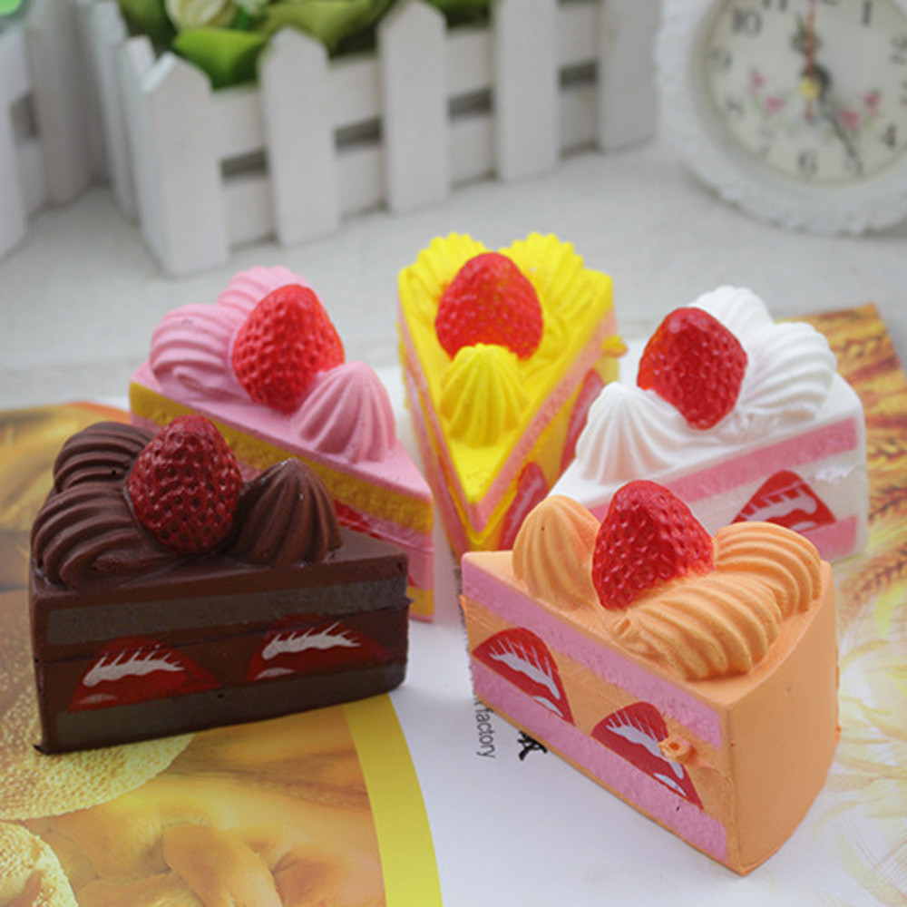 Squishy Strawberry Cake Straps Cream Perfume Slow Decompression Toys Stress Relief Reliever Squishy Toy Hot