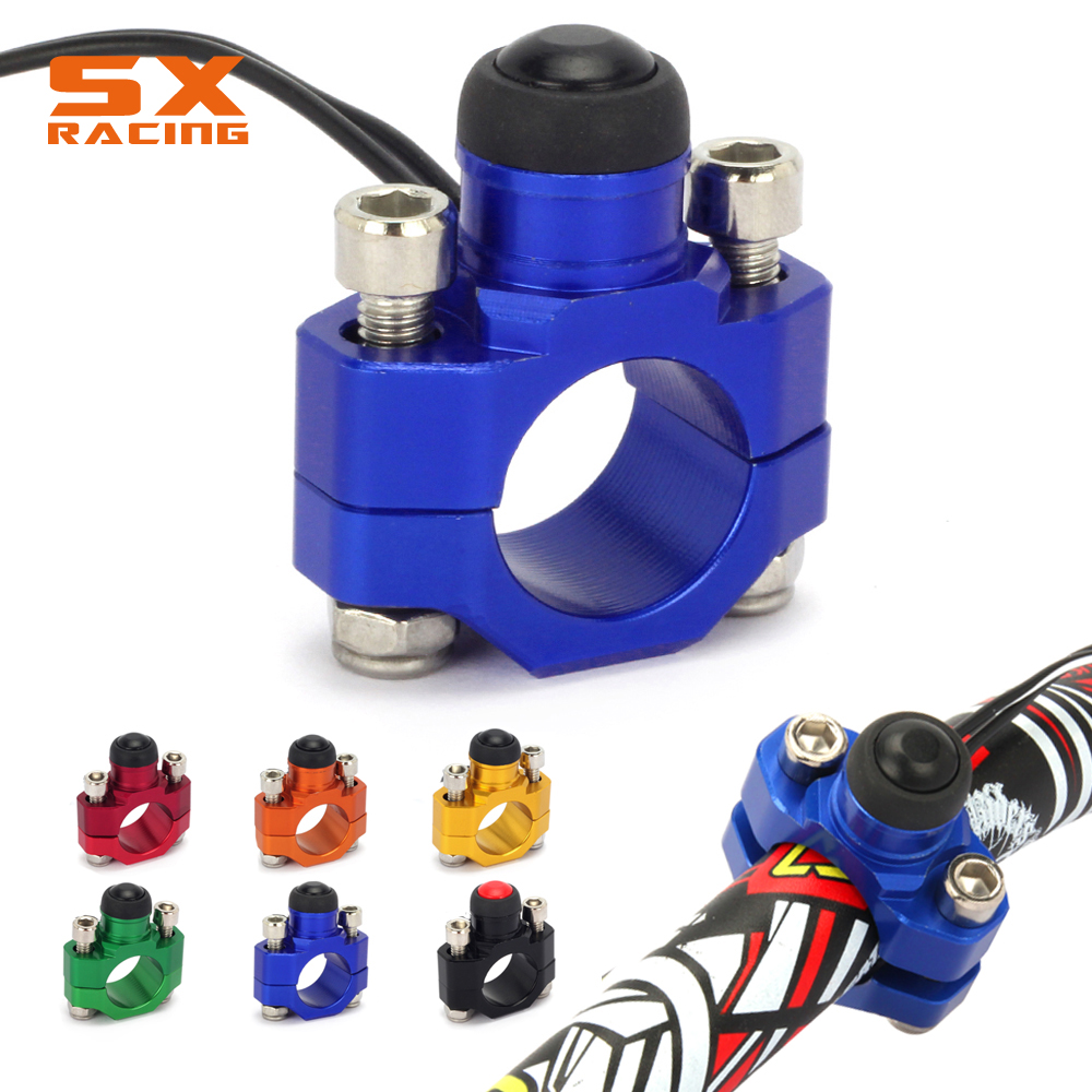 цена на Motorcycle CNC Universal Kill Switch Stop Start Button With Rotating Bar Clamp For YAMAHA YZ250 YZ450 YZF250 YZF450 WR450F