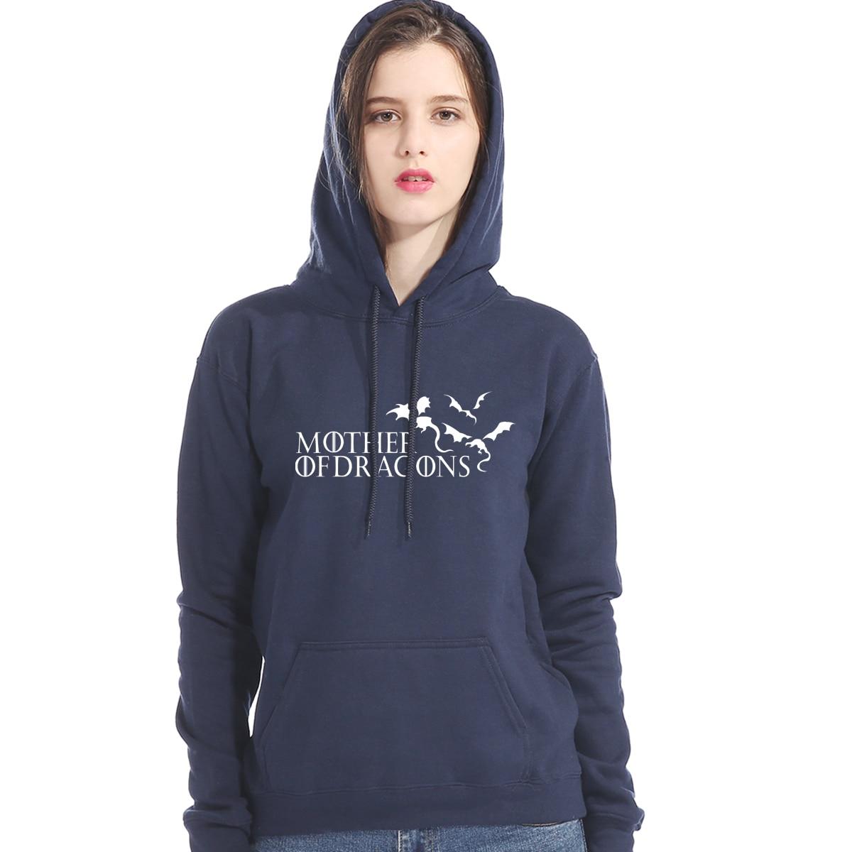 Women's Hoodies Streetwear 2019 New Fashion Autumn Winter Coat Fleece Hoody Lady Gothic Top Game Of Thrones Sweatshirt For Women