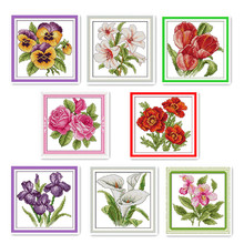Cross-Stitch-Kit Embroidery Flowers Needlework-Sets Decorative-Patterns Small Family