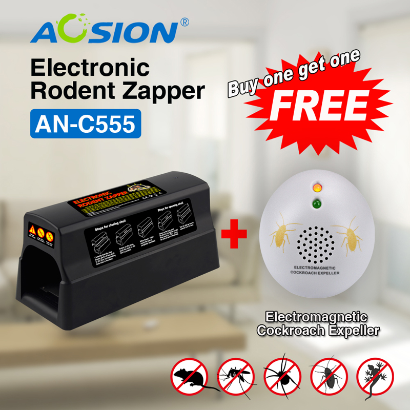 Livraison gratuite acheter Aosion antiparasitaire souris électrique souris rat piège tueur rat zapper (obtenu cafard répulsif gratuit)