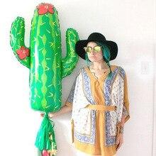 Globos de aluminio de Cactus para decoración de Fiesta, globo de decoración de cumpleaños en el desierto, Fiesta de verano, suministros de Fiesta de cumpleaños mexicana