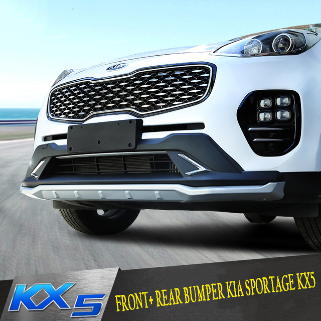 US $270 0 |Phù hợp Cho Kia Sportage KX5 2016 2017 Front + Rear Bumper  Diffuser Bumpers Môi Bảo Vệ Guard tấm trượt ABS Chrome kết thúc
