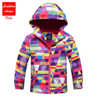 4 13y Kids Jacket Hooded Girls Coats New Spring Top Autumn Winter Warm Outerwear Children Clothing