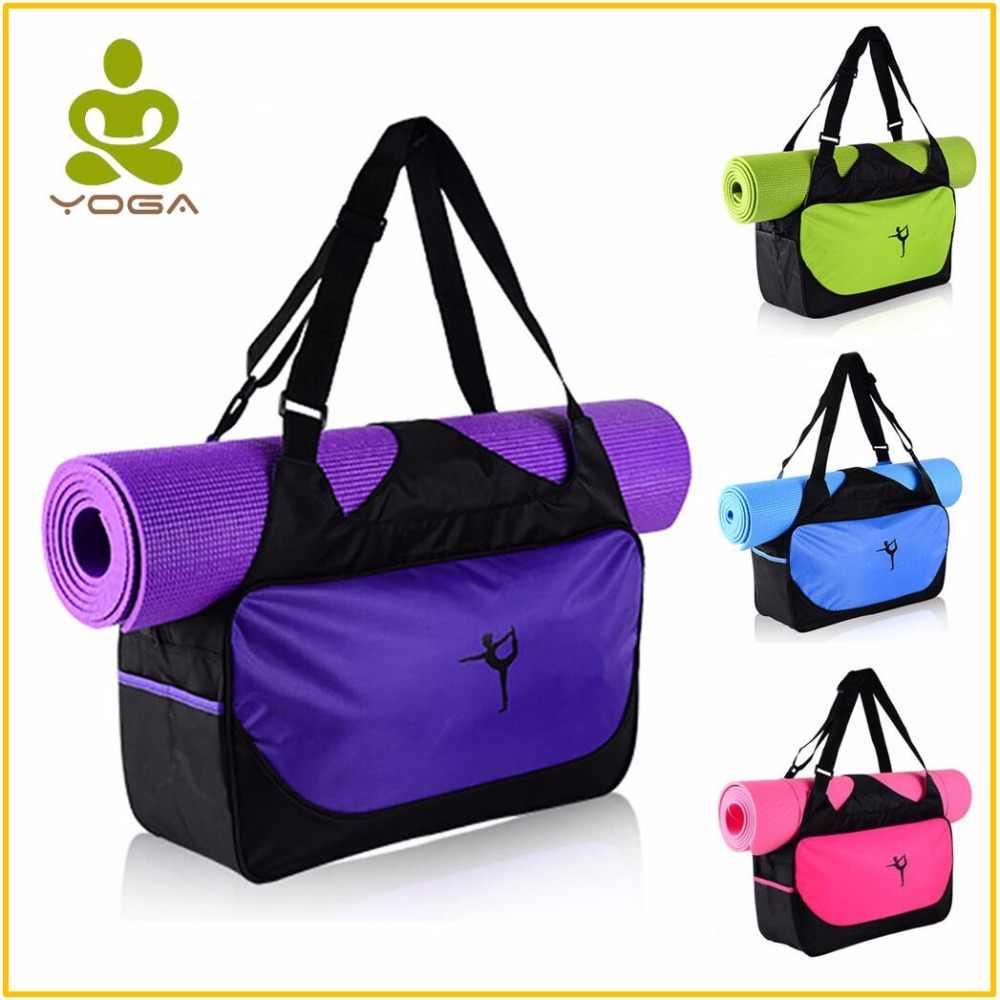 Quality Multifunctional Waterproof Yoga Bag for Gym Mat Nylon Backpack  Shoulder Carriers Yoga Pilates Mat Bag 43839d5544bbd