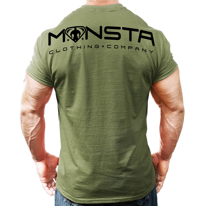 New Men Short sleeve Printed   t     shirt   Summer Gyms Fitness Bodybuilding Cotton Slim   T  -  shirt   Mans Casual Fashion plus-size clothing