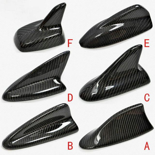 אוטומטי סיבי פחמן כריש סנפיר אווירי גג סגנון אוטומטי שונה רכב אנטנות רכב סטיילינג אנטנה